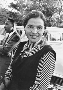 Rosa Parks avec Martin Luther King, en 1954