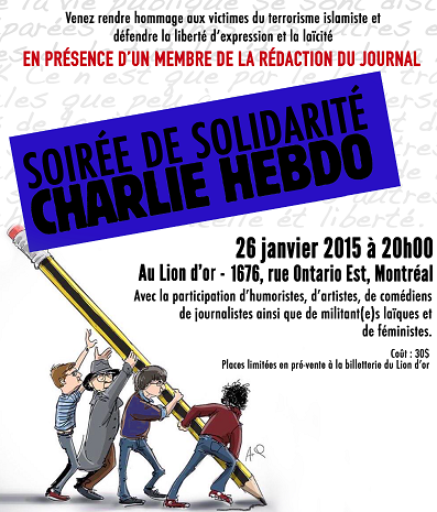 Evening of Solidarity with Charlie Hebdo