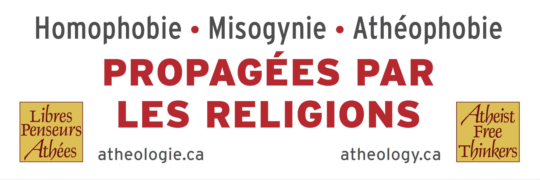 Denounce Homophobia, Misogyny and Atheophobia
