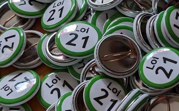 Lapel Pins Bill 21